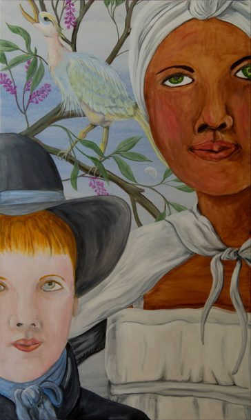 Fable paintings, fantasy paintings gallery, american gothic, children's portraits, beautiful paintings, large wall paintings