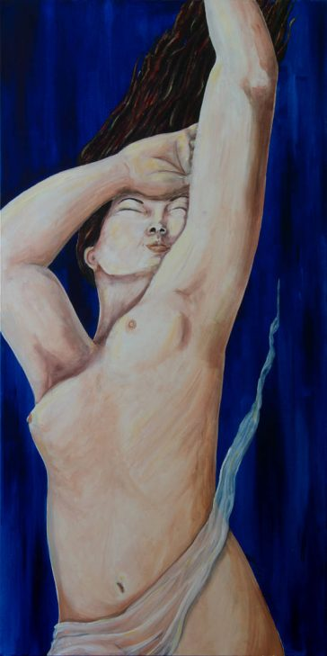 Painting the human figure, nude figure painting, large original painting, new fine art, limited edition prints, nude art paintings, painted nude women