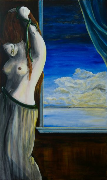 Nude figure painting, fine art online, fine art america, full portrait painting, contemporary figurative painting, classic nude paintings, female nude paintings